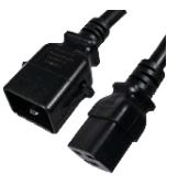 Locking Power Cords SJT C19/C20 20AMP BLACK Image